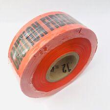 "BARICADE TAPE ""CAUTION FIBER OPTIC CABLE BURIED BELLOW"", 3""X1000FT ORANGE COLOR"