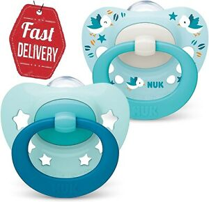 NUK Baby Boy Blue Dummies   BPA Free Orthodontic Soothers 0-6 MONTHS Pack of 2