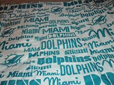 Miami Dolphins Twin Size Anthem Comforter Bedding - Sports Bedroom NFL Decor