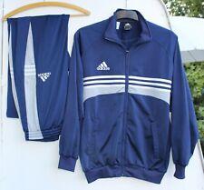 Adidas retro Trainingsanzug Hose Jacke Sport blau Größe D 5 F 174 vintage