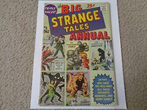 STRANGE TALES ANNUAL #1 1962 KIRBY DITKO ART ( UNRESTORED )