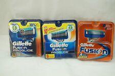 GILLETTE FUSION BLADES PROGLIDE 3 PACKS 20 CARTRIDGES TOTAL MENS RAZOR SHAVING