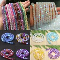 DIY Mystic Aura Quartz Gemstone Loose Beads Holographic Quartz Matte Bracelets