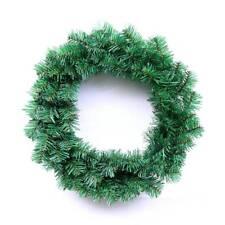 35cm Plain Artificial Green Spruce Garland Wreath Make your own Xmas Wreath
