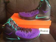 Nike Zoom Hyperfuse 2014 Black Purple Green Grape hyperdunk 12
