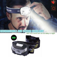 NEW Super Bright Waterproof Head Torch Headlight LED USB Rechargeable Headlamp
