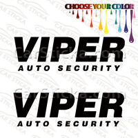 "2 of 8"" Viper Auto Security aftermarket car bumper vinyl sticker decal die cut"