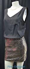 As U Wish Sequin mini skirt tank Dress sexy short sleeveless LBD Junior SZ M NEW