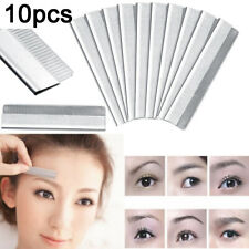 Eyebrow Razor Trimmer Blade Stainless Steel Facial Tool Hair Remover 10pcs P