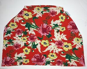 Car Seat Canopy Cover/Nursing Scarf Covers Stretchy Red Floral Open Top