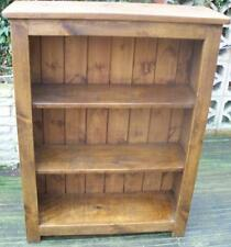 any size made  SOLID WOOD CHUNKY RUSTIC PLANK PINE BOOKCASE BOOKSHELVES SHELVING