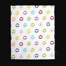 XOXO Heartbeat Hearts Circles Colorful Shower Curtain NIP DISC Design DISC HTF