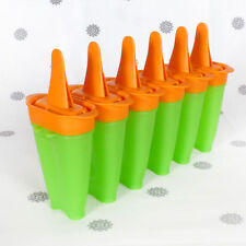 NEW Tupperware Lollitups Ice Blocks Icy Pole Makers Moulds set of 6 Orange Green