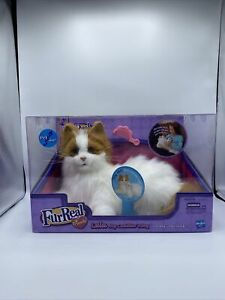 2008 Hasbro FurReal Friends Cat Lulu My Cuddlin' Kitty White Orange BRAND NEW!