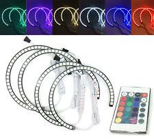 4x RGB LED Angel Eye Halo Rings Light Lamp remote control For BMW E46 M3