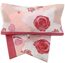 Completo Letto matrimoniale 240x285 rose  lenzuola 2 piazze