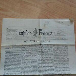 Giornale Capitan Fracassa Quintino Sella 15/3/1884 Anno V N° 74 LOTTO13