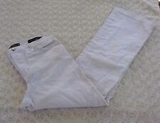 Not Your Daughters Jeans NYDJ remium Denim Womans Size 10 Wide Leg White 1717