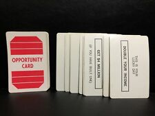 New ListingGame Parts Pieces Prize Property - 60 Opportunity Cards - Milton Bradley 1974