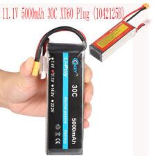 5000mAh 3S 11.1V 30C LiPo Rechargable Battery XT60 1042125B For RC Plane Drone