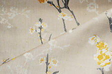 'Blossom Weave' furnishing fabric by John Lewis, Viscose/Nylon/Linen, gold, 1.8m