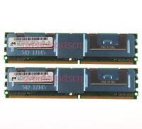 16GB 2x 8GB For Micron 2RX4 PC2-5300F DDR2 667MHZ FB-DIMM ECC Server Memory RAM