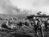 Iwo Jima Photo US Marines On The Beach Landing  Feb 20 1942 South Pacific WWII