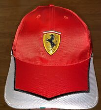 FERRARI FORMULA 1 CLUB RARE VINTAGE HAT RACING RACE CAR RED WHITE