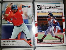Lot(2) - Mookie Betts - 2016 topps bunt & 2017 Donruss - Boston Red Sox