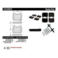 Disc Brake Pad Set Rear Centric 105.09610
