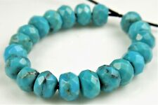 """Natural Chinese Turquoise Rondelle Beads 8mm 8/"""" #82060"""