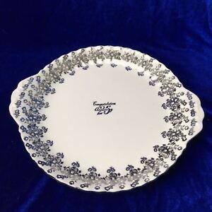 25th Anniversary Royal Albert Platter Silver Flash Bone China CONGRATULATIONS