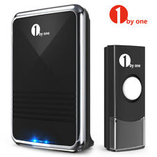 1byone 1000ft Range Wireless Waterproof Door Bell Battery Operated Door Bell Set