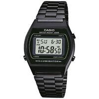 Casio Men's B640WB-1AEF 'Retro' Digital Black Stainless Steel Watch