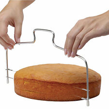UK CAKE Slicer Bread Cutter Wire Line Cutting Kitchen Decor Baking Tool Leveller