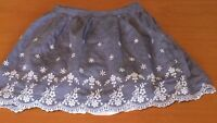 Girls F&F Blue Skirt White Floral Pattern 2-3 Years Summer Holiday Beach B20