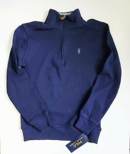 Polo Ralph Lauren Little Boys Interlock Quarter Zip Pullover Navy Sz 5 - NWT