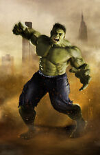 Hulk from Marvel Comics Original 11x17 Art Print signed by artist Scott Harben