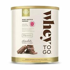 Whey To Go Protein Powder Natural Chocolate Flavor Solgar 42 oz Powder