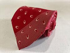Giorgio Armani ITALY Men's Red Stripe Silk Neck Tie $175