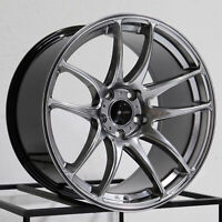 One 17x9 Vors TR4 5x100 30 Hyper Black Wheel Rim 73.1