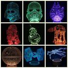 3D Star Wars Night Light Color Changing LED Desk Table Light Lamp Force Awakens