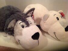 "FlipZee ~ Flipazoo 16"" Poppi Polar Bear & Asher Husky 2 Soft PLUSH Pets in 1 NEW"