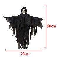 Halloween 90cm Hanging Skeleton Reaper Trick Treat Party Decoration Spooky Prop