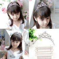 Luxury Crystal Tiara Hair Band Baby Kid Girl Bridal Princess Prom Crown Headband