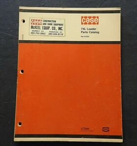 "CASE 1294 1394 1494 1694 TRACTOR ""74L FRONT LOADER"" PARTS CATALOG MANUAL NICE"