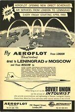 ORIGINAL ca 1968 AEROFLOT, SOVIET AIRLINES AD PHOTO CARD