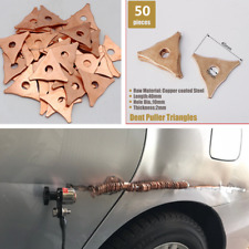 50PCS Welding Triangle Washer Ring Spot Welder Auto Body Dent Puller Repair Kit