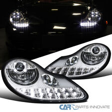 For Porsche 986 Boxster 996 911 Clear LED+Signal Projector Headlights Fog Lamps