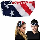 Patriotic Headband Unisex American Flag Accessories Unisex Girl Boy Hairband
